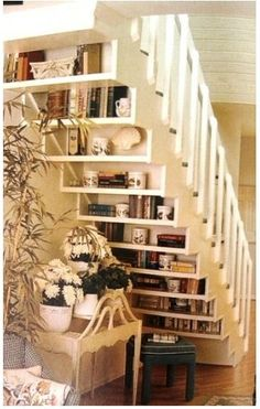great idea for a small nook under the stairs.