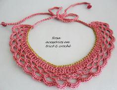 Oi gurias!   Para quem estava com saudades de acessórios de crochê  vejam que linda gargantilha  feita com a linha Anne da Círculo na cor c...