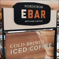 Nordstrom Mall-Concourse Coffee Advertising – Fixtures Close Up Coffee Advertising, Cold Brew Iced Coffee, Retail Fixtures, Close Up, Brewing, Mall, Lunch Box, Nordstrom, Store