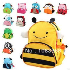 Children School Bags Cartoon Animal Canvas Backpack children backpacks kids bags mochilas school kids Kindergarten Schoolbag US $12.05