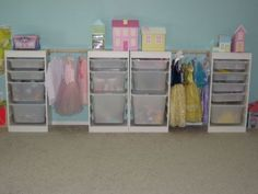 trofast toy storage from ikea-great way to add storage for dress up clothes!
