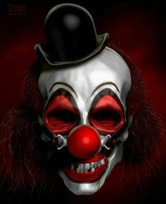 result for Evil Jester Clown Scare, Scary Clown Face, Freaky Clowns, Joker Clown, Clown Horror, Clown Mask, Joker Art, Evil Clowns, Arte Horror