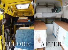 Van Conversion Motorhome Interior Design Decoration Campervan Mobile Home Vanlife Caravan Self Build Diy Before And After