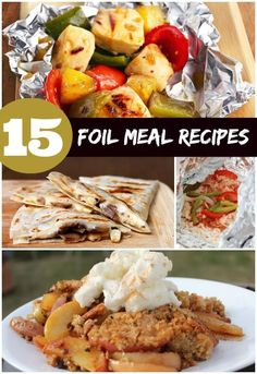 Foil Meals Recipes Dinners If you're cooking in fire pits and on the barbeque, checkout these foil meal recipes. Foil meals made by cooking in foil packets can be an easy way to cook on flames, without messes or extra dishes! Using foil you can do one-pot meals, desserts, breakfasts and more. Queen Bee Coupons