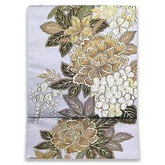 お仕立て込:西陣まいづる謹製 西陣織袋帯【牡丹】