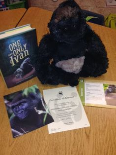 Adopt a Gorilla - goes with read aloud - The One and Only Ivan