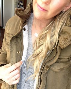 The BEST for Fall Fashion with Coastal Collective Co. - love this military jacket so much!