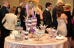 Purple and ivory candy bar
