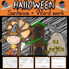 Halloween Vocabulary Sentence and Word Work