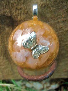 Eskew Butterfly Orgone Energy Pendant by TwoChez on Etsy, $18.00