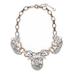 Statement Bib Necklace Retro Vintage Glass Crystal Choker Bib Necklace