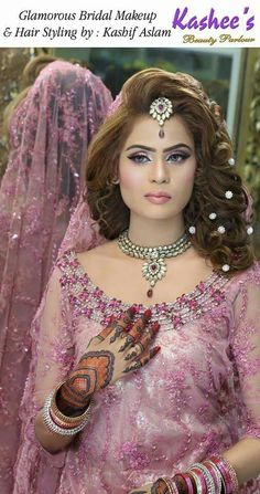 20 stunning wedding hairstyles ideas – My hair and beauty Bridal Eye Makeup, Bridal Makeup Looks, Indian Bridal Makeup, Asian Bridal, Bride Makeup, Pakistan Wedding, Muslim Women Fashion, Pakistani Bridal, Bride Hairstyles