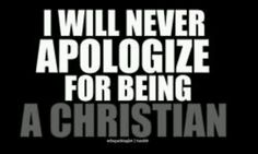 I am not ashamed and other Christians shouldn't be either. Don't hide who you are. Don't be afraid of telling people about God and what He wants. If they criticize you or laugh at your face then so be it. They just aren't capable of comprehending. At least you know God and his truth.