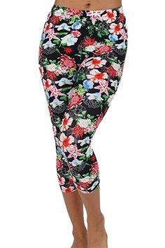 c49c4a571b3165 $6.99 & FREE Shipping Women's Stretch Control Seamless Basic Footless Crop  Capri Leggings High Waist