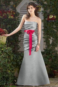 Colors: Marcasite / Flirt    Fabrics: Duchess Satin / Single Faced Satin Ribbon