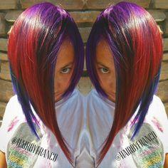 A-line magic.... #francohernandezhair #sealbeach #pravana #alinebob  #funhair #funcolors #razorcut #americansalon #btcpics #hairbrained #beautylaunchpad #behindthechair