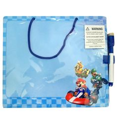Mario Kart Wii Dry Erase Board - Includes (1) dry erase board and marker.