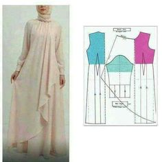 34 Ideas For Sewing Patterns Skirt Easy Source by artiesuharjanto hijab Long Dress Patterns, Skirt Patterns Sewing, Blouse Patterns, Clothing Patterns, Skirt Sewing, Kaftan Pattern, Diy Clothes, Clothes For Women, Modelista