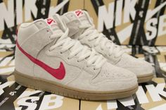 NIKE DUNK HIGH PRO SB BIRCH/HYPER RED #sneaker