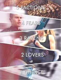 5 фракций. 4 страха. 3 вороны 2 любви 1 выбор