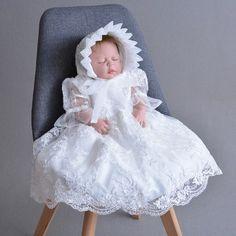 a247cfbc8e3 Pas cher 2018 Nouveau 1 Année D anniversaire Bébé Fille Robes Pour Baptême  Infantile Princesse
