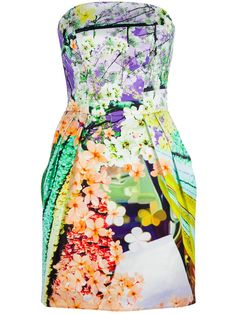 MARY KATRANTZOU  FLORAL BUSTIER DRESS  $1275