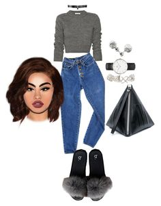 """""""Untitled #2375"""" by mrkr-lawson ❤ liked on Polyvore featuring Carven, PèPè, Fallon, Dorothy Perkins, Daniel Wellington, Topshop, McQ by Alexander McQueen and Lime Crime"""