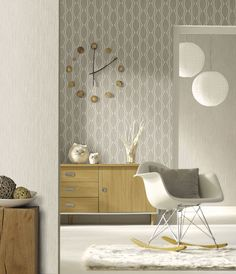 We've got thousands of wallpaper patterns to choose from. Whether you're looking for a bright feature wall, or a classic stripe, we have a wallpaper design for you Modern Wallpaper Designs, Designer Wallpaper, Bedroom Design Inspiration, Interior Inspiration, Dream House Pictures, Geometric Decor, Of Wallpaper, Wallpaper Ideas, Modern Retro