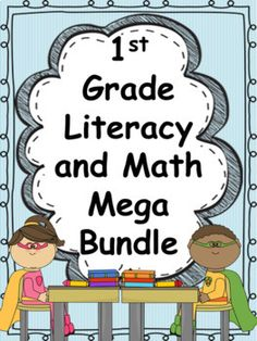 A YEAR of Literacy and Math in Grade Mega. by Mrs Wenning's Classroom Classroom Hacks, Classroom Resources, Teaching Resources, First Grade, Grade 1, Teacher Organization, Class Management, Addition And Subtraction, Word Problems