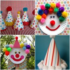 Recuerdos para cumpleanos infantil de payasos Carnival Themed Party, Carnival Birthday Parties, Carnival Themes, Circus Birthday, Circus Theme, Party Themes, Diy And Crafts, Crafts For Kids, Paper Crafts