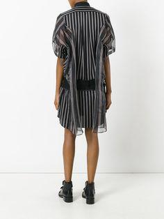 Sacai платье-рубашка в полоску
