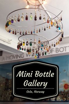 The Mini Bottle Gallery in Oslo is the only one of its kind in the entire world, and contains the world's largest collection of miniature bottles, with 53,000 exhibited in 50 different installations in a 3-story building.