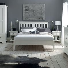 The Georgie White collection supplied by Fishpools. Traditional in style yet with a contemporary feel, Georgie White Bedroom is a timeless range that offers. White Bed Frame, Home Bedroom, Bedroom Interior, White Wooden Bed, New England Bedroom, Furniture, White Bedroom Set, White Bedding, White Bedroom Furniture