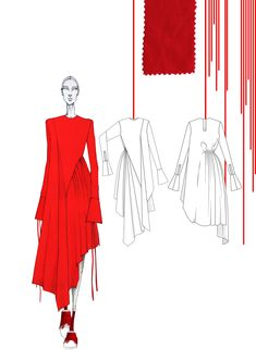 Fashion illustration  | ♦F&I♦ #fashiondesigndrawings,