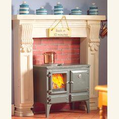 Wood Burning Kitchen Stove, dollhouse style, 1:12 scale