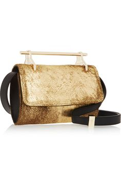 M2Malletier | Fabricca mini metallic calf hair shoulder bag | NET-A-PORTER.COM