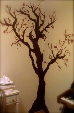 Cherry Blossom Tree on Wall