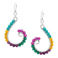 Curl It Up earrings on Fusion Beads