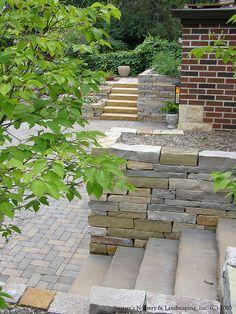 Complete Backyard Renovation... Custom Natural Stone Install by Switzer's Nursery & Landscaping, via Flickr