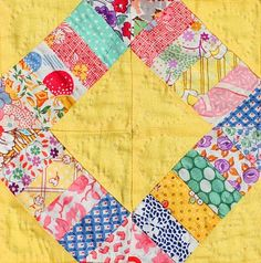 Doll Quilt 1930's // background color and scrappiness