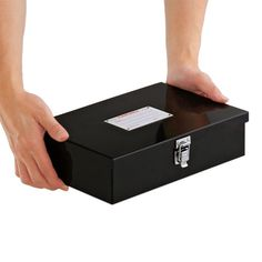 Console Box (Steel) - Small - Ref : EB022, Size: (S)W20.5 × H7.15 × D16.25 (cm), Large - Ref : EB023 - Size (L)W27.0 × H7.15 × D18.25 (cm), Colors : Black, Ivory, Red, Navy