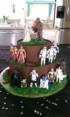 Star Wars grooms cake, via Flickr. Definitely doing a groom's cake for Max...may go with a Star Wars motif :)