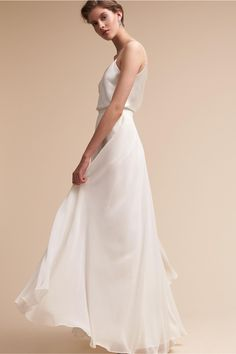 BHLDN Laurel Cami Top & Hampton Skirt  in  Bride | BHLDN