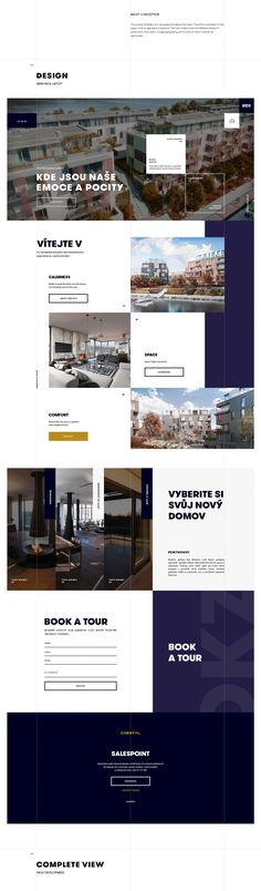 Corporative website design for Dock by Crestyl, Prague