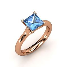 The Eleni Ring #customizable #jewelry #topaz #rosegold #ring