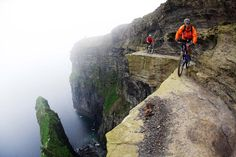 Dublin-native Victor Lucas takes mountain biking to the next level with this photo below of two daredevils on the Cliffs of Moher in Ireland.