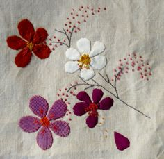 Completely enamored and inspired by this person's first (!) attempt at embroidery. So lovely.