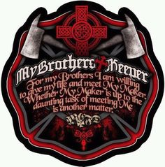 I am my brothers keeper. It takes someone extraordinary to truly understand the meaning behind this quote. Firefighter Family, Wildland Firefighter, Firefighter Quotes, Volunteer Firefighter, Firefighter Tattoos, Firefighter Decals, Firefighter Pictures, Fire Dept, Fire Department