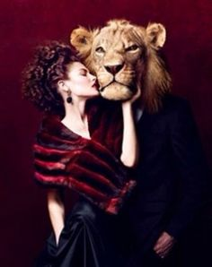 Lion with mans body & Woman art