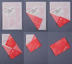Envelope feito com aproveitamentos de papel